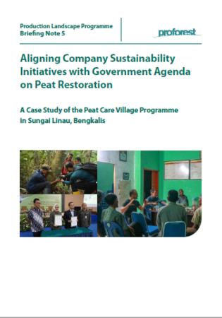 Aligning Company Sustainability Initiatives with Government Agenda on Peat Restoration