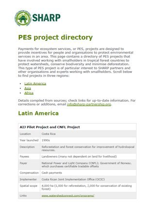PES Project Directory