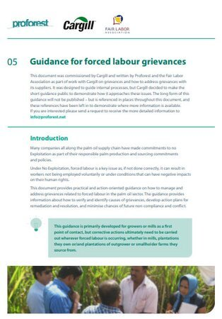 05 Guidance for forced labour grievances