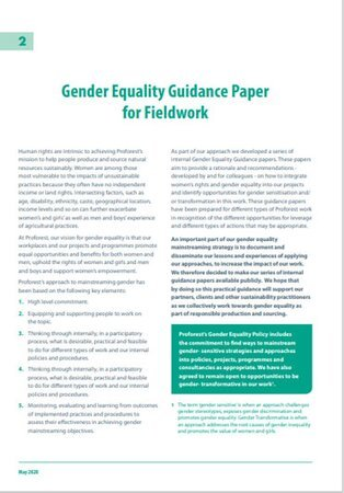 02 Gender Equality Guidance Paper for Fieldwork
