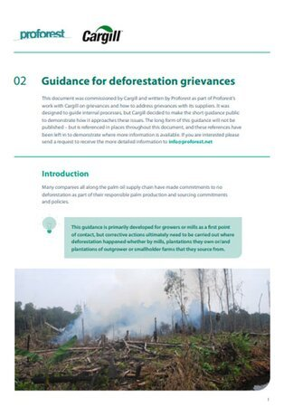 02 Guidance for Deforestation grievances