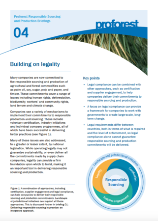 Building on legality
