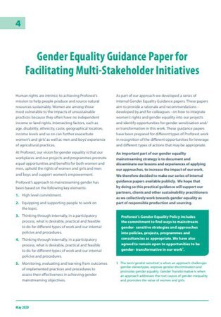 04 Gender Equality Guidance Paper for Facilitating Multi-Stakeholder Initiatives