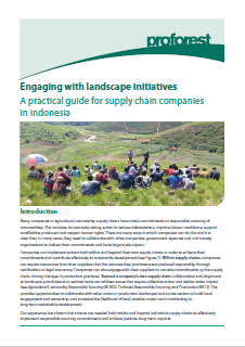 Engaging with landscape initiatives: A practical guide for supply chain companies in Indonesia