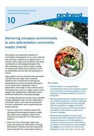 Delivering company commitments to zero deforestation commodity supply chains