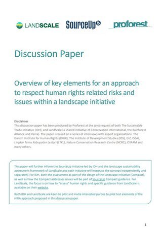 Discussion paper on human rights related risks and issues within a landscape initiative