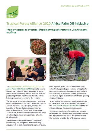 Africa Palm Oil Initiative briefing 7
